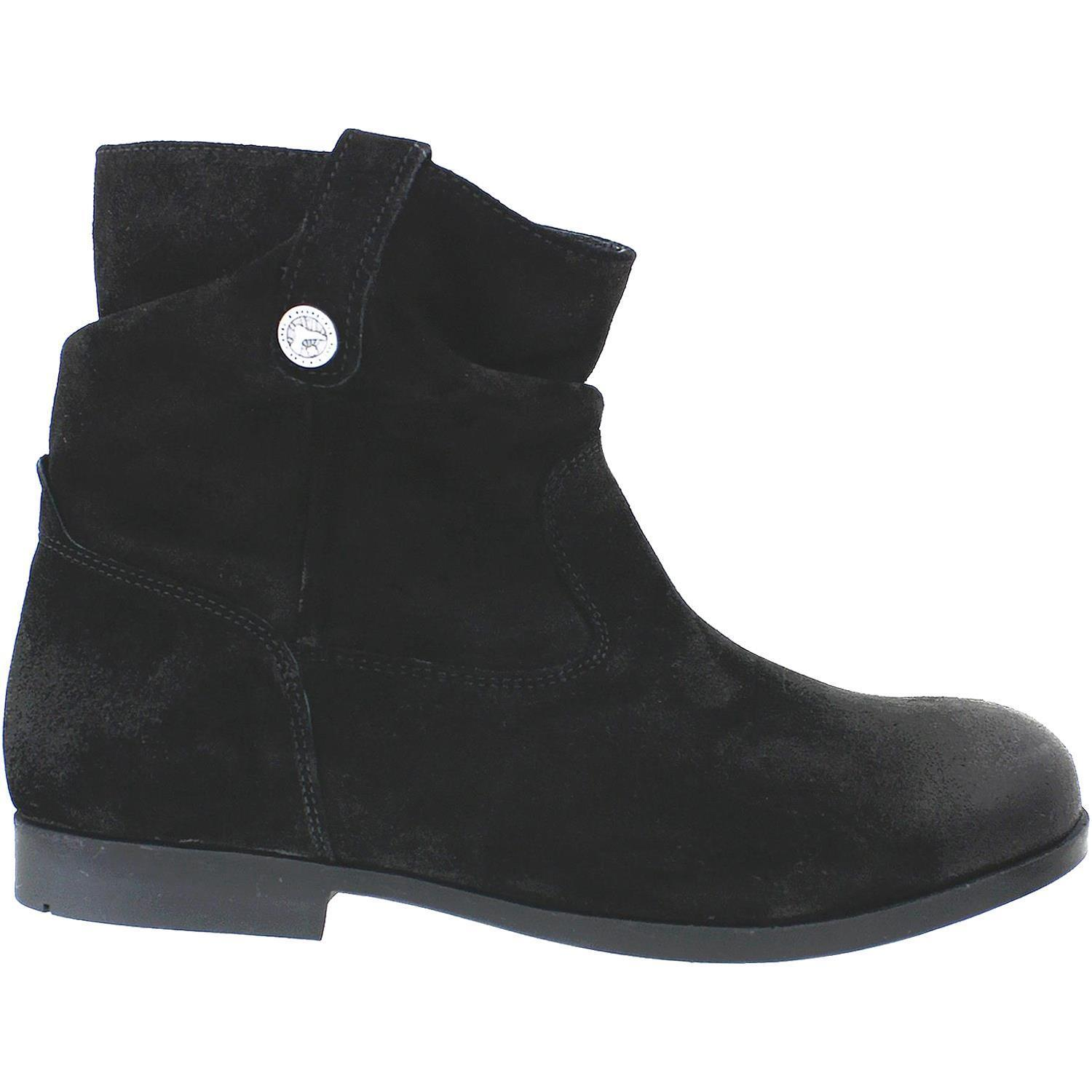 BIRKENSTOCK SARNIA WAXED SUEDE ANKLE BOOT BOOTIE BLACK 37 6 L 4 M (M2)