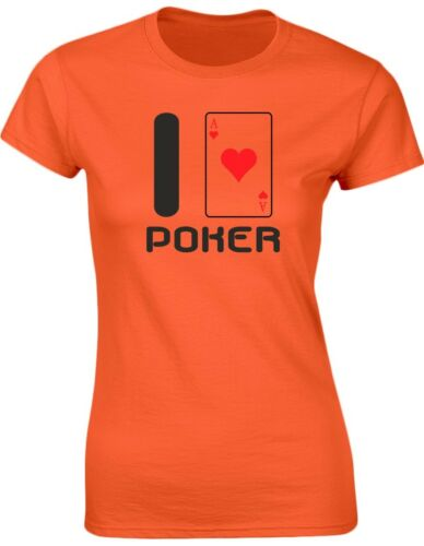 8-20 I Love Poker Womens T-Shirt 8 Colours by swagwear