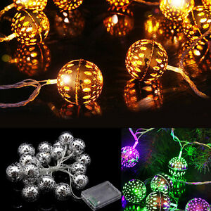 2M-20-LED-METAL-BALL-STRING-BATTERY-FAIRY-LIGHTS-XMAS-WEDDING-PARTY-PATIO-DECOR
