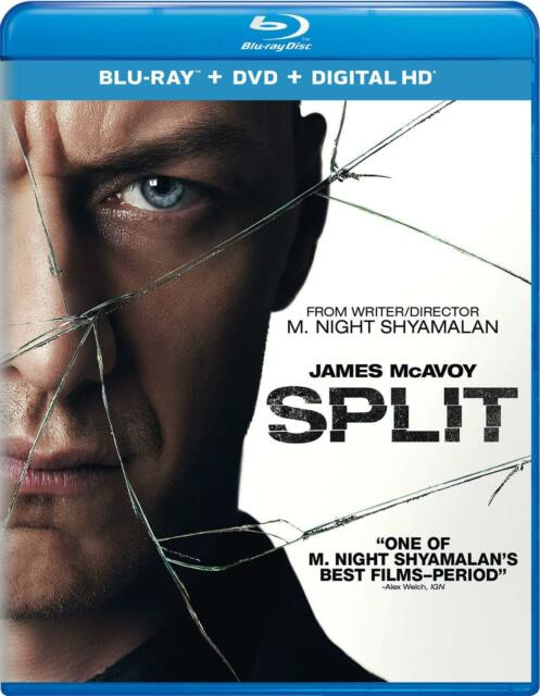 Split (Blu-ray/DVD, 2017, 2-Disc Set, Includes Digital Copy)