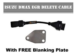 Isuzu-Dmax-EGR-DELETE-CABLE-2012-2013-2014-2015-3-0L-engine-FREE-Blanking-Plate