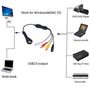 USB Video Capture Grabber Analog Video Audio Recorder Windows Win7 Win10 MAC OS