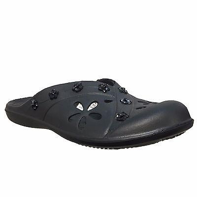 Señoras para mujer de verano flip flop playa de Vacaciones Resbalón En Crocs Sandalia Zapatos Talla