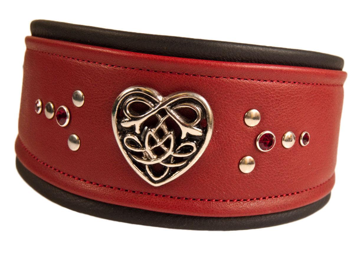 Vento CANE CANE CANE COLLARE Celtic Heart collare da cane dog collar vento Cane grigiohound Galgo 0f84c8