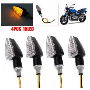 4X-Universal-Motorcycle-15-LED-Turn-Signal-Indicators-Amber-Blinker-Light-12V