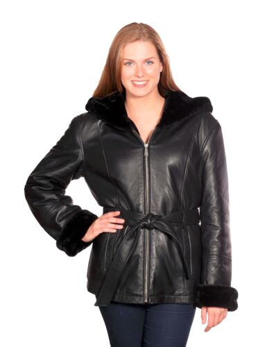 Christian Shawl Ny Collar hooded Leather Jacket r1rqxO