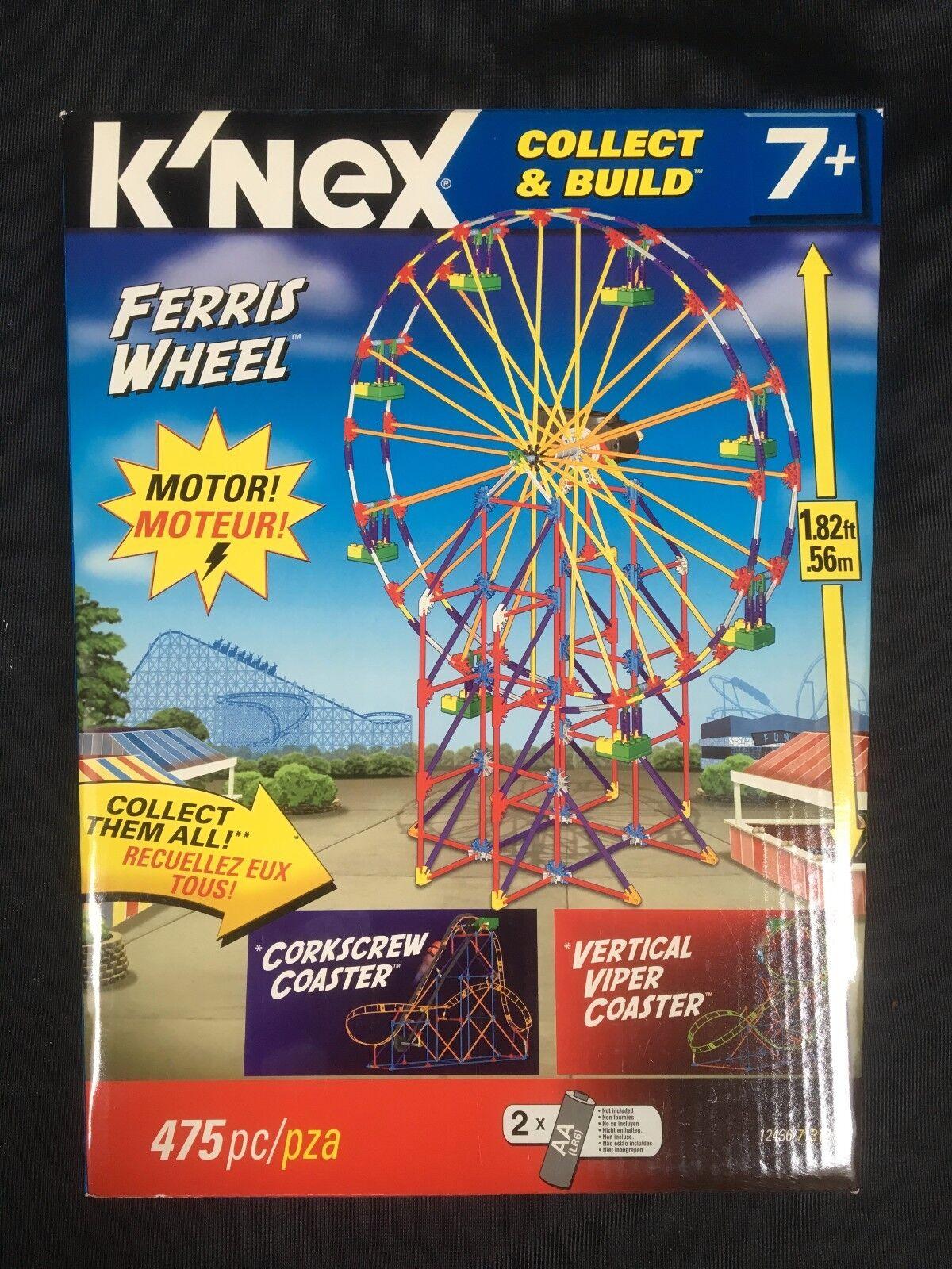 K'NEX FERRIS WHEEL COLLECT BUILD SET SET SET 12436 MOTORIZED 475 pieces BRAND NEW SEALED d92b3d