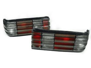 DEPO-Euro-Red-Smoke-Rear-Tail-Lights-For-1981-1991-Mercedes-Benz-W126-4D-Sedan