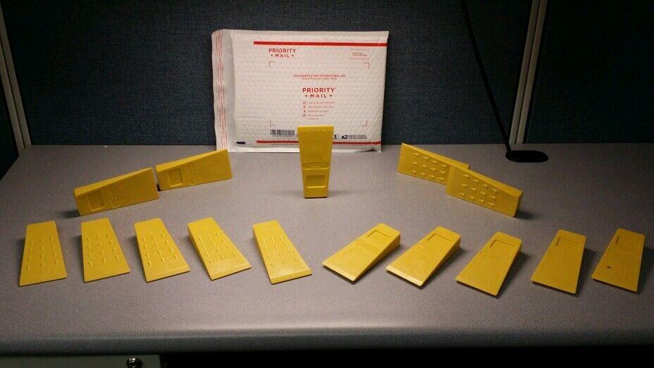 Conjunto de 15 tala de árboles cayendo Tala Cuña de registro de plástico cuñas Amarillo 5.5