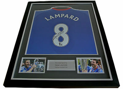 FRANK LAMPARD GENUINE HAND SIGNED & FRAMED AUTOGRAPH CHELSEA NAME #8 SHIRT & COA