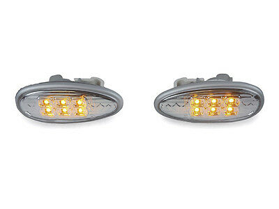 Clear Amber LED Fender Side Marker Light For 2003-2006 Mitsubishi Lancer Evo 8/9