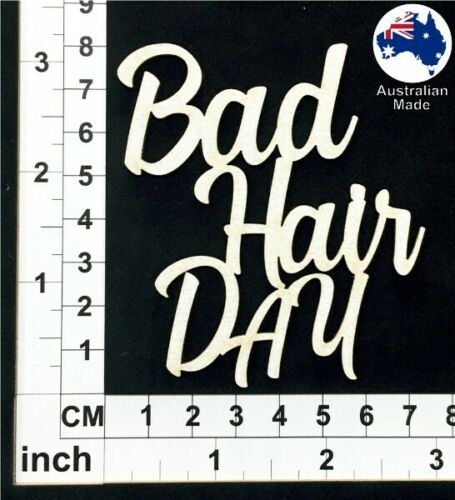 Chipboard Words for Scrapbooking Bad Hair Day CT069 Cardmaking