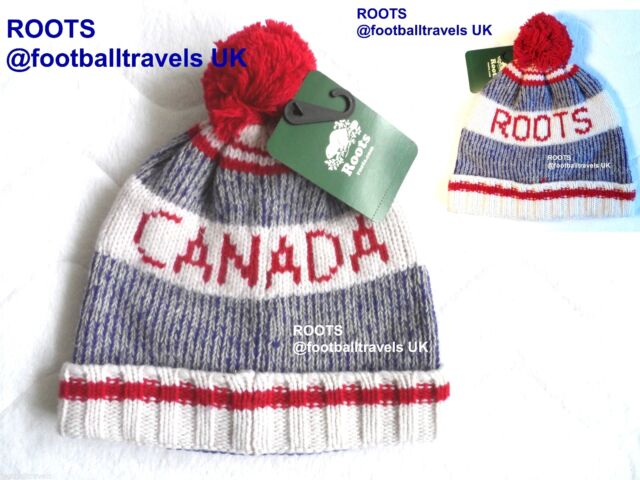 ROOTS CANADA LAMBSWOOL POMPOM TOQUE Beanie Hat UNISEX NEW Tag WINTER WARM feb562905b6