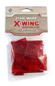 Fantasy-Flight-Games-Star-Wars-X-Wing-Red-Bases-And-Pegs-New
