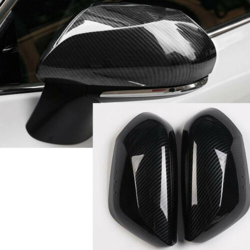 2PCS Carbon Fiber Side Door Rearview Mirror Cover Trim For TOYOTA CAMRY 2018