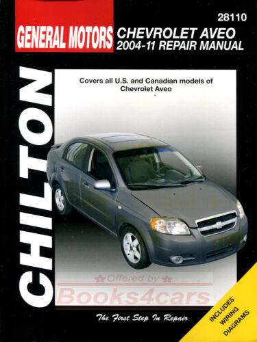 AVEO CHEVROLET SHOP MANUAL SERVICE REPAIR CHILTON BOOK HAYNES DAEWOO 04-11