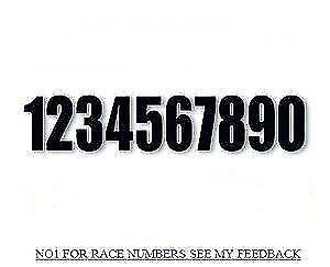 "mx racing numbers ENDURO RACE NUMBERS 5/"" white race numbers MOTOCROSS NUMBERS"