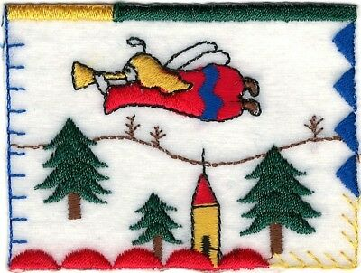 """3/"""" Christmas Angel Winter embroidery Patch"""