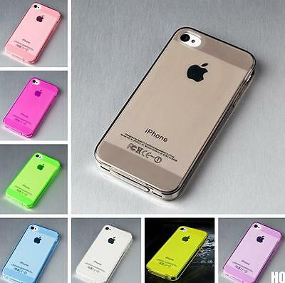 HOUS Soft Gel Silicone Crystal Clear Transparent Case Cover For iPhone 4 4S 5 5S