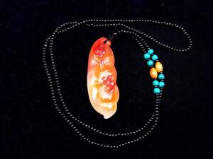 Nefrita-Jade-Piedra-Mariposa-Grano-Tallado-a-Mano-Colgante-Con-Collar