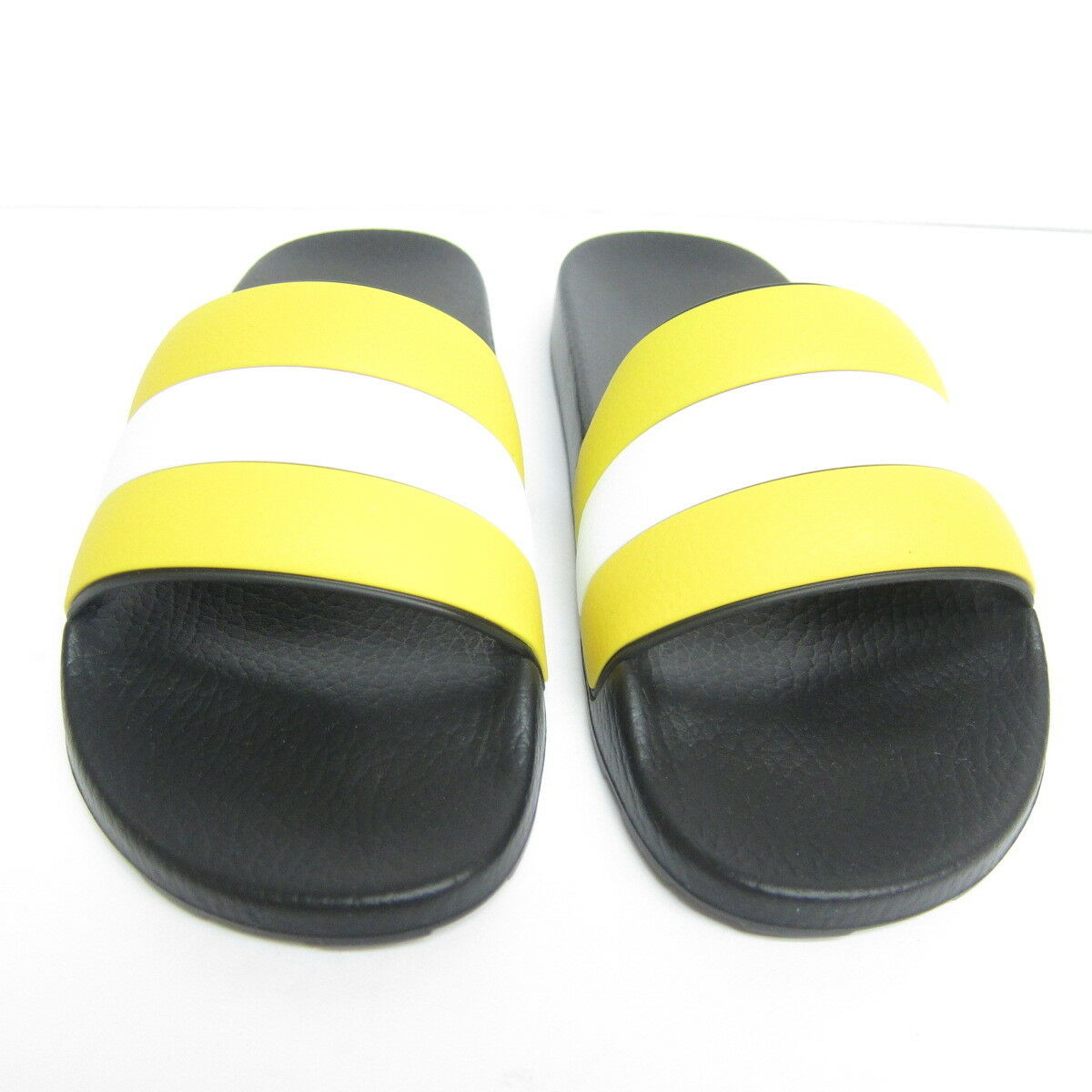 P-640963 New Bally Sleter Yellow Yellow Yellow Blk White Rubber Slide US 8 EU 7 FR 41 8b0c98
