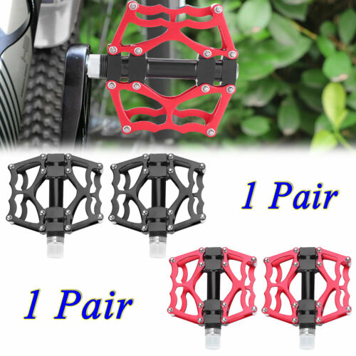 1 Pair Bike Pedals Aluminium Alloy Mountain Bike Road Bicycle Pedals Lightweight