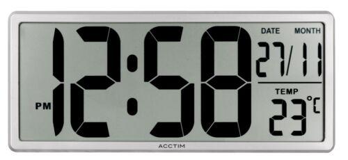 Acctim 22357 Date Keeper Jumbo LCD Wall//Desk Clock with Autoset® Technology