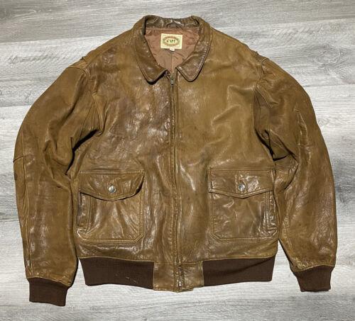 vintage 80s Banana Republic Leather Jacket Size 46