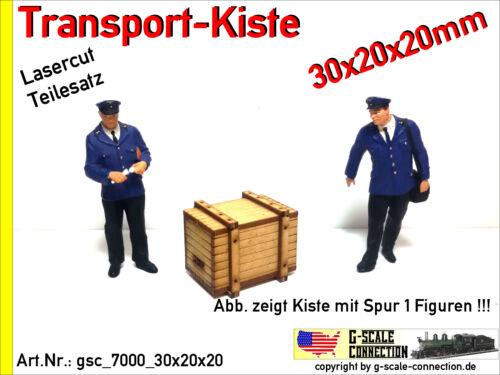 Märklin Kiss Spur 1 Lasercut 2x Transport Kiste 30x20x20mm aus Holz für z.B