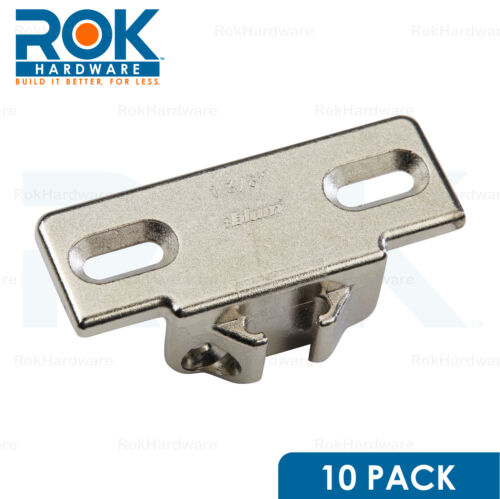 """10 Pack Blum 1-3//8/"""" Overlay Edge Mounting Plate 130.1140.02 for Compact 33 Hinge"""