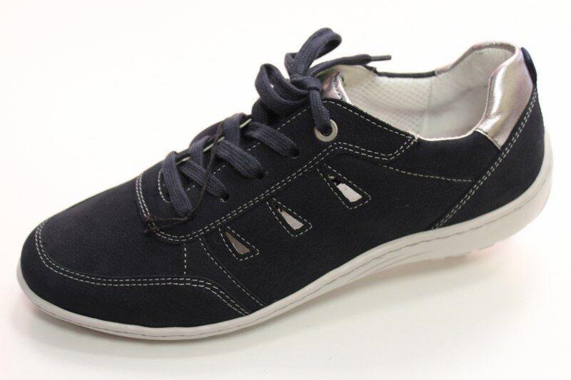 Damenschuhe Blau Gr 38,5 Sneakers Schnür Gr 5,5 Luftpolster JENNY by ara Slipper