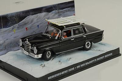 Mercedes-Benz 220S W111 black James Bond Movie Majestys Secret Service 1:43 Ixo