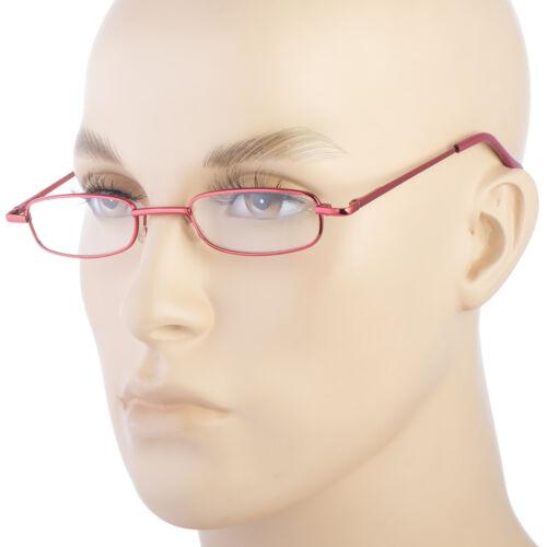New SLIM READING GLASSES MEN WOMEN METAL SPRING HINGES FRAME COMES WITH CASE b