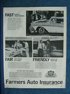 1960 Farmers Insurance Auto Ad ~ Fast Fair Friendly ...