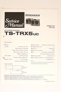 pioneer ts trx5 car stereo speaker original service manual. Black Bedroom Furniture Sets. Home Design Ideas