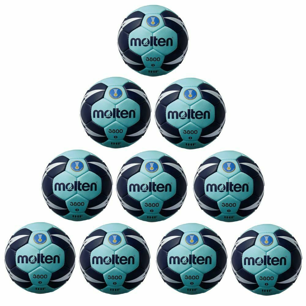 Molten Handball H3X3800-CN IHF Spielball Wettspielball 10er Paket Paket Paket cyan blau Gr 3 59f53e
