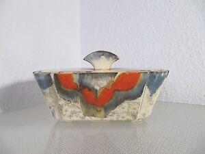 Art Deco Keramik Dose  Deckeldose - Keksdose - sehr selten in dieser Ausführung
