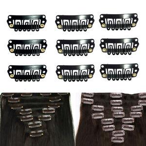 40-pieces-Extension-De-Cheveux-Outil-DIY-clip-peigne-snap-pour-trame-Noir
