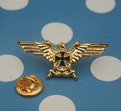 Adler EK Eisernes Kreuz Militaria Military Pin Button Badge Anstecker TOP 251