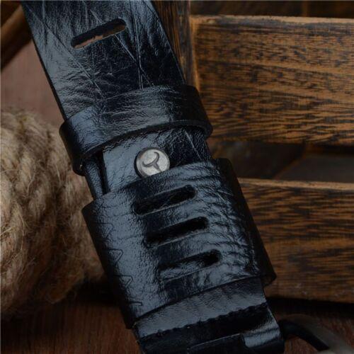 Genuine Luxury Leather Men Belts Strap Male Pin Buckle BIG SIZE 100-130cm