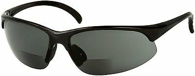 Sport Wrap Bifocal Sunglasses - Outdoor Reading/Activity Sunglasses Black, 2 x