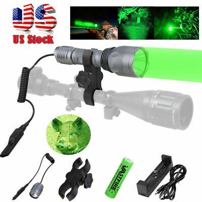 Green Light LED Varmint Predator Coyote Hog Hunting Lamp Flashlight Mounting Kit