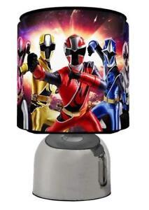 Power-Rangers-Light-Touch-Lampe-Kids-Room-matches-Ensemble-De-Couette-de-jeu-Gratuit-p-amp-p