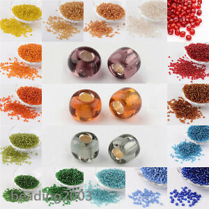 50g-3mm-8-0-Round-Glass-Silver-Lined-Seed-Beads-19-Colors-Jewellery-Craft-Making