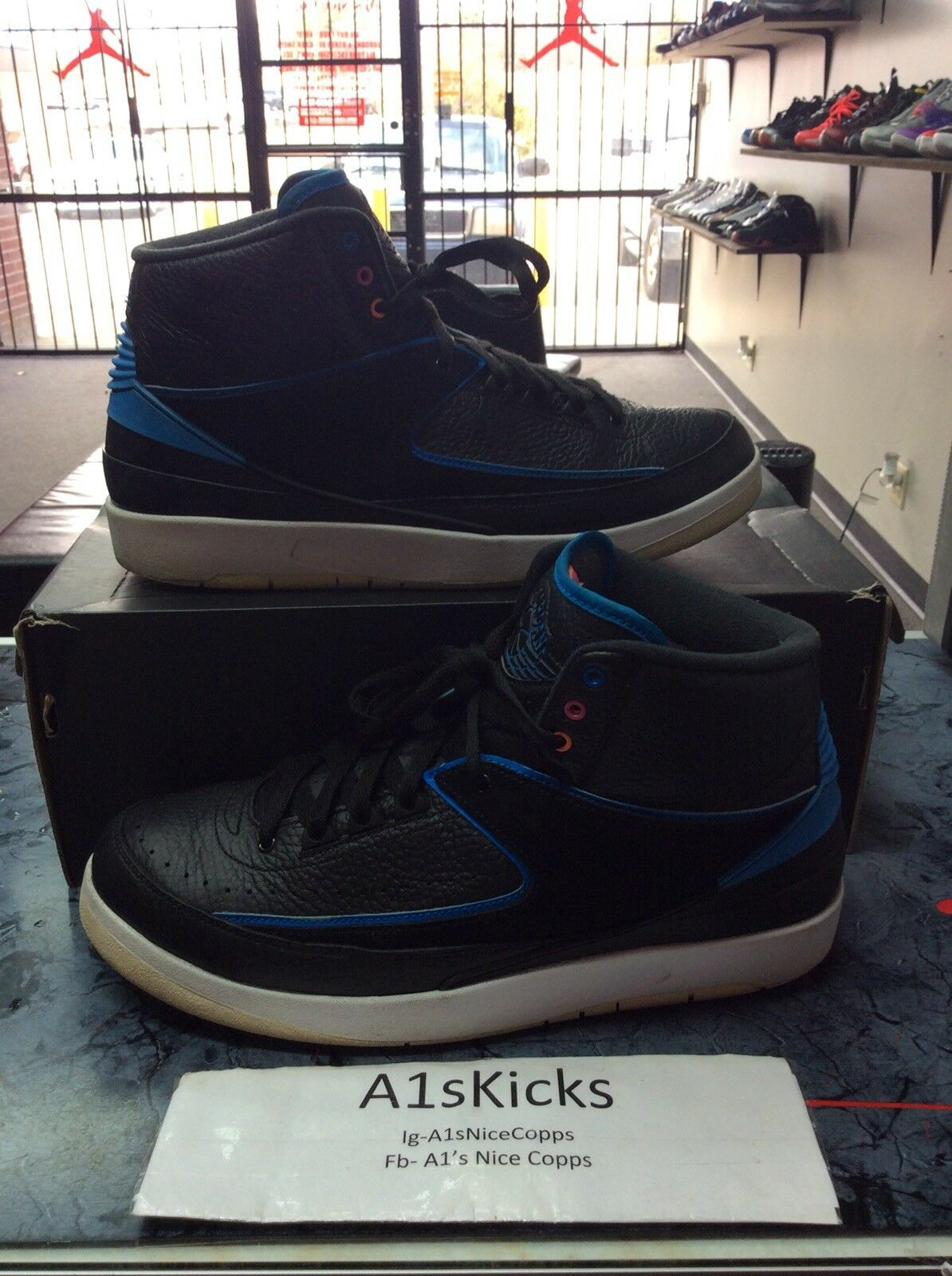 Nike Air Jordan 2 Retro Radio Raheem Blue/Black 834274-014 Size 10.5