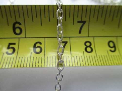 UK Jewellery 12 x 4 x 3mm Silver Trace Oval Link Necklace Pendant Locket Chain