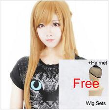 Asuna Long Hair Sword Art Online Wigs Main Heroine Role Play Wig Yellow Straight