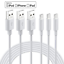 miniature 3 - 10/20 Pack Lot USB Charger Cord 3FT 6FT For iPhone 12 11 XR 8 7 6 Charging Cable