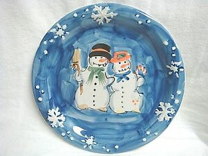 Hand painted Snowman couple