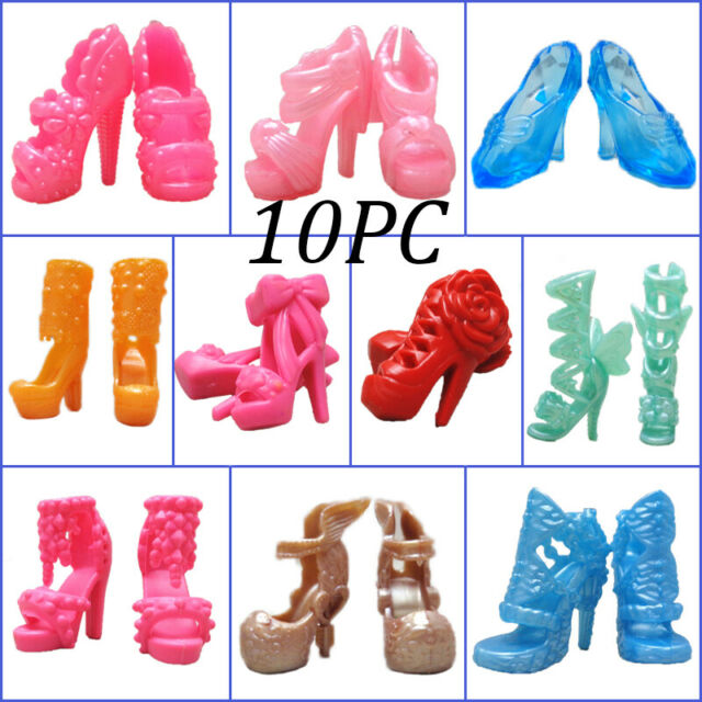 10 Pairs Fashion Doll Shoes For Blythe 1//6 Doll Accessories Shoes Toy